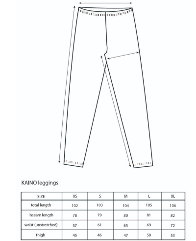 Vimma Kaino leggings mitat