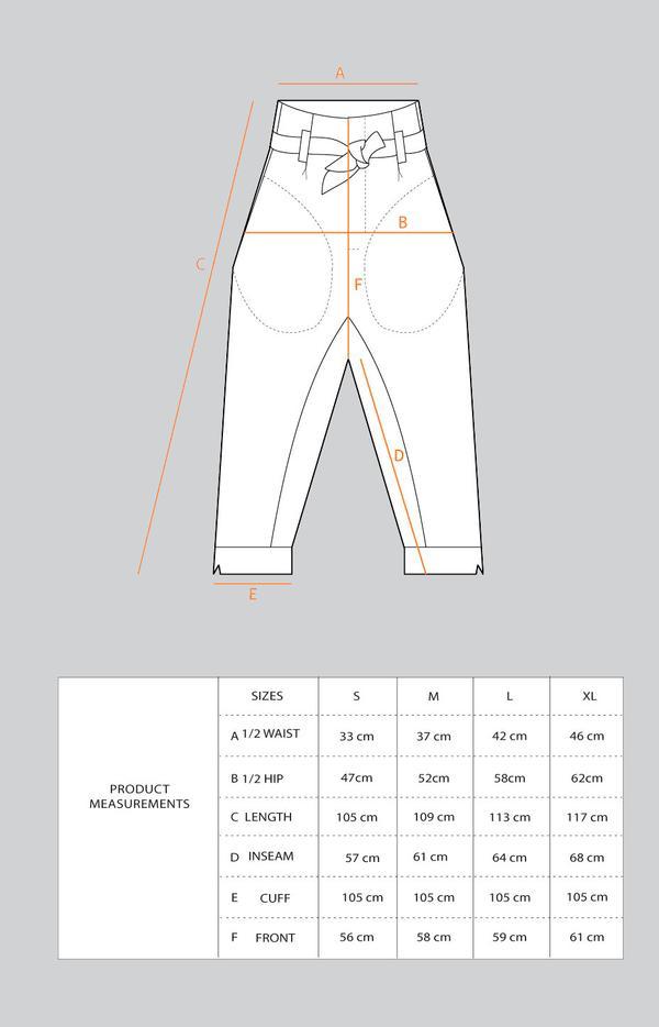 Tauko Radalla housut mittataulukko