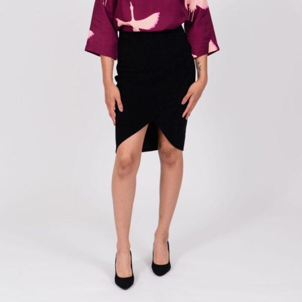 Yozen Wrap skirt velour hame