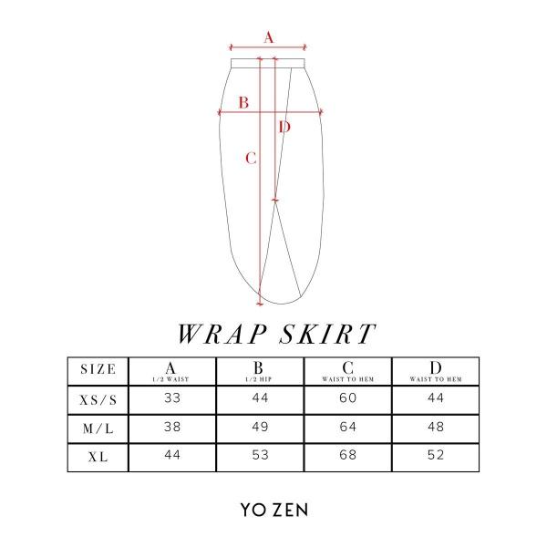 Yozen wrap skirt mittataulukko