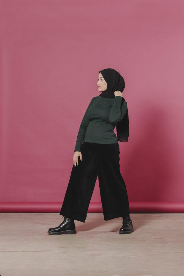 Aarre naisten mukavat culottes housut vastuullisesti valmistettu