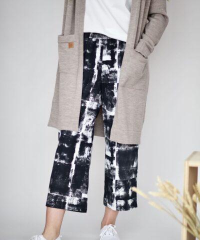 Laadukkaat puuvillasatiini housut