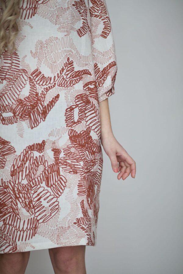 Kestävä pellava mekko