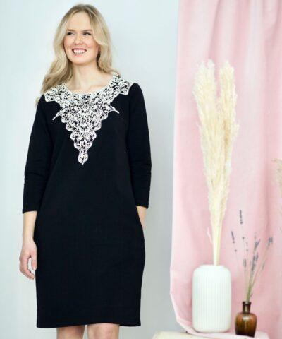 Laadukas puuvillainen mekko