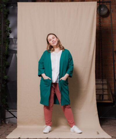 Luomupuuvillainen laadukas takki