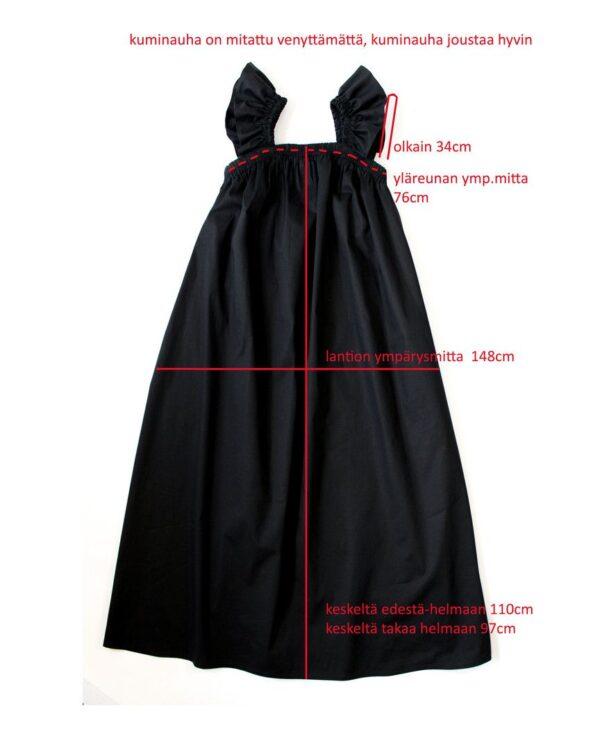 Laadukas juhlava puuvilla mekko suomessa valmistettu