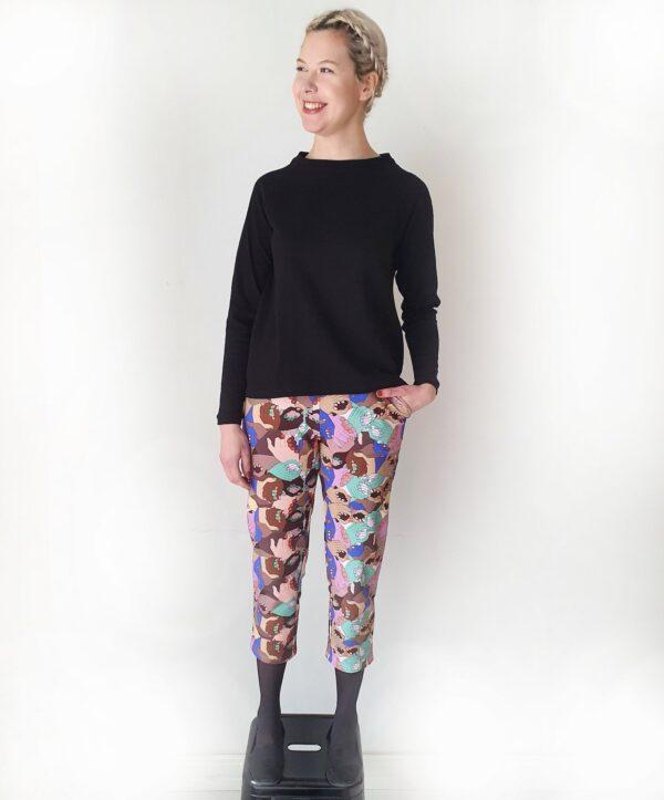 Tampereella tehdyt luomupuuvillaiset housut