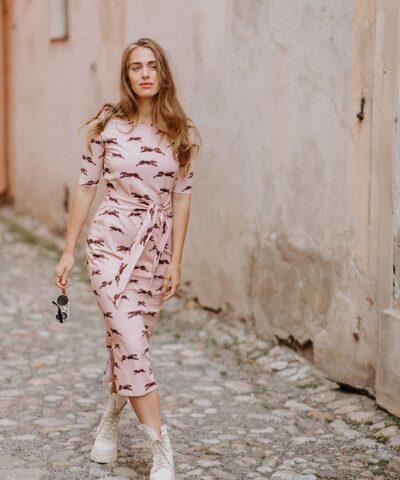 Ihana laadukas luomupuuvillainen midi mekko