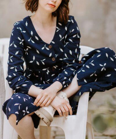 Laadukas luomupuuvillainen mekko