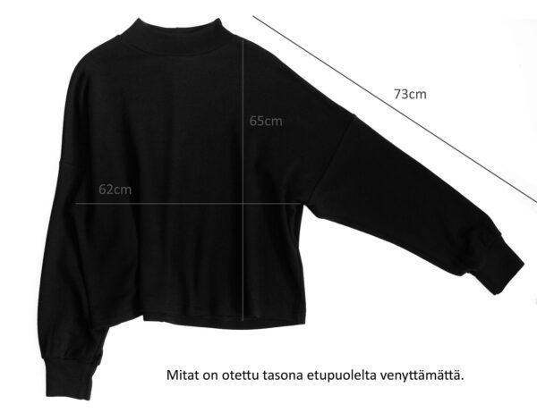 Suomessa valmistettu mulesingvapaasta merinovillasta neule